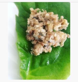 fresh spinach as a plate