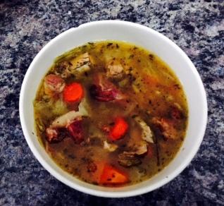 Vegetable Chicken Ham Bone Soup