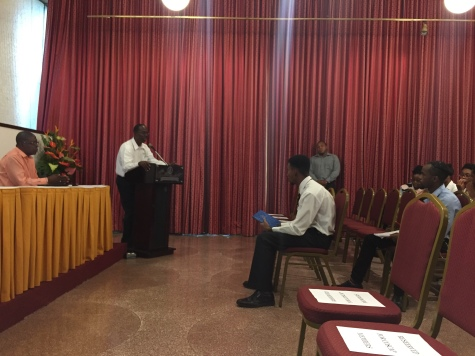 Fund Access Business Development Officer, Mr. Ronald Wiltshire & Emcee, Antoine Williams