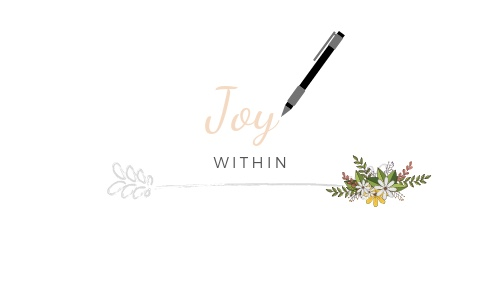 Joy within blog